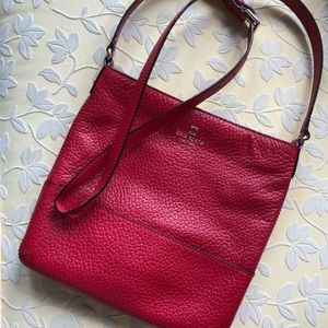 Kate Spade cross body red leather bag